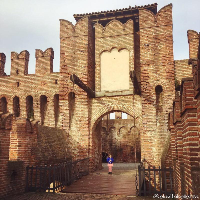 Il ponte levatoio del castello di Soncino