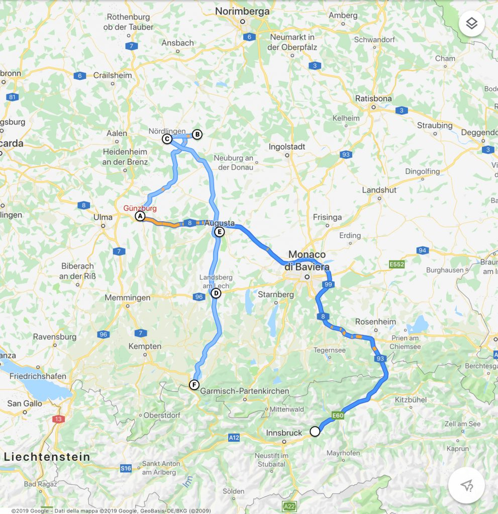 le tappe della nostra Baviera in camper
