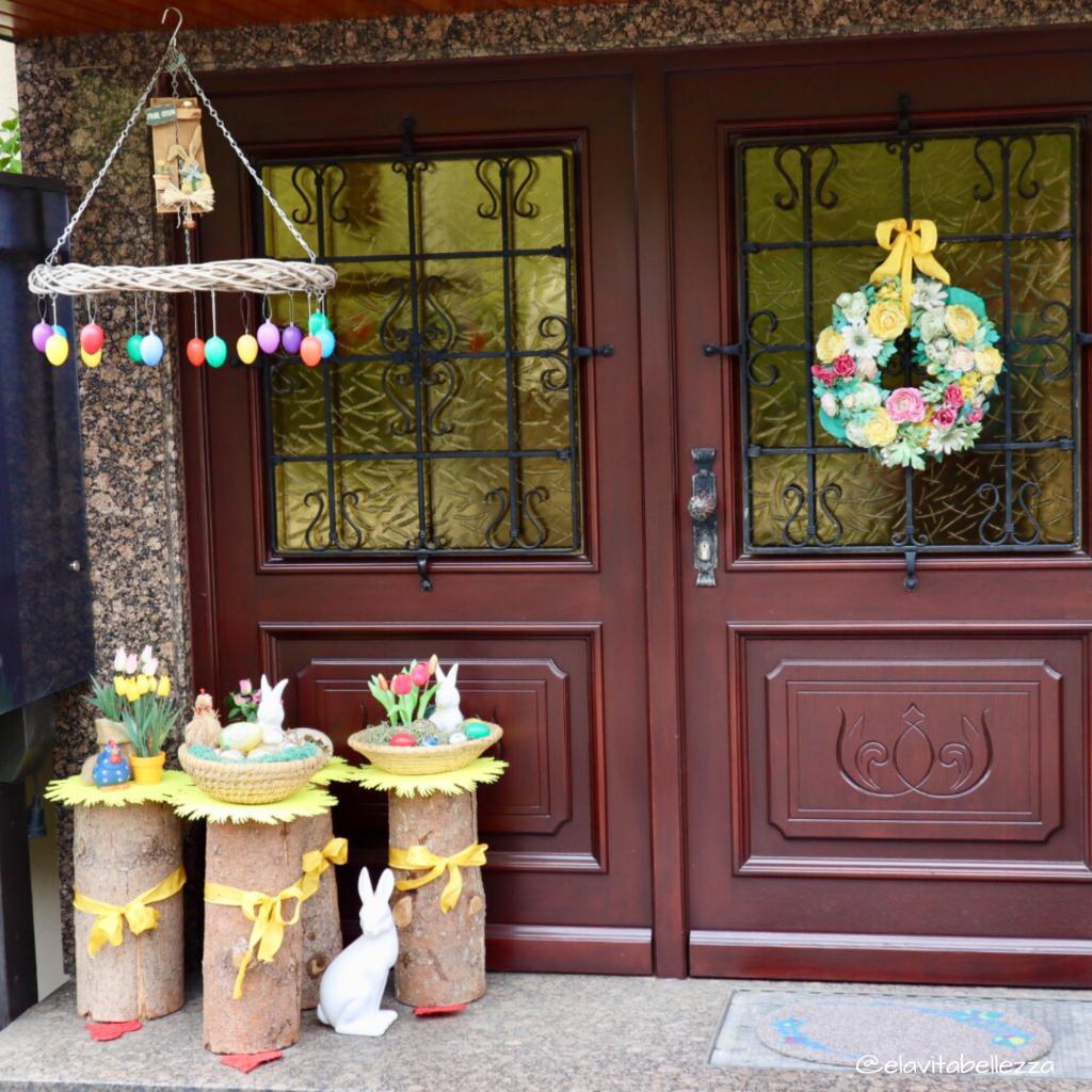 Una casa a Wemding addobbata per le vacanze di Pasqua