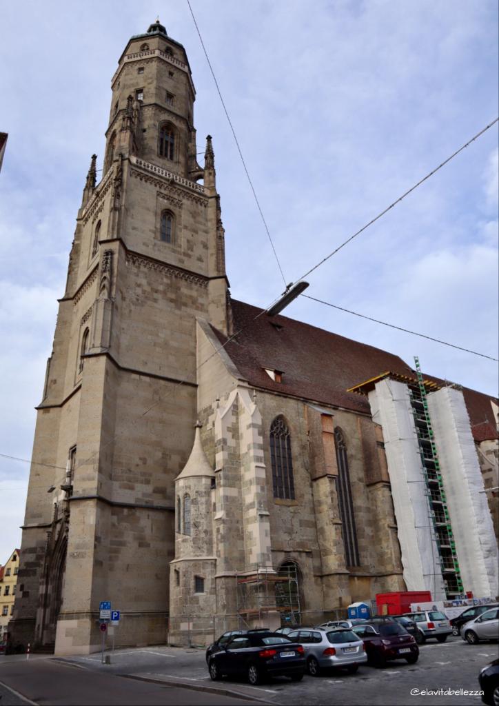 Daniel il campanile della chiesa gotica di Nördlingen