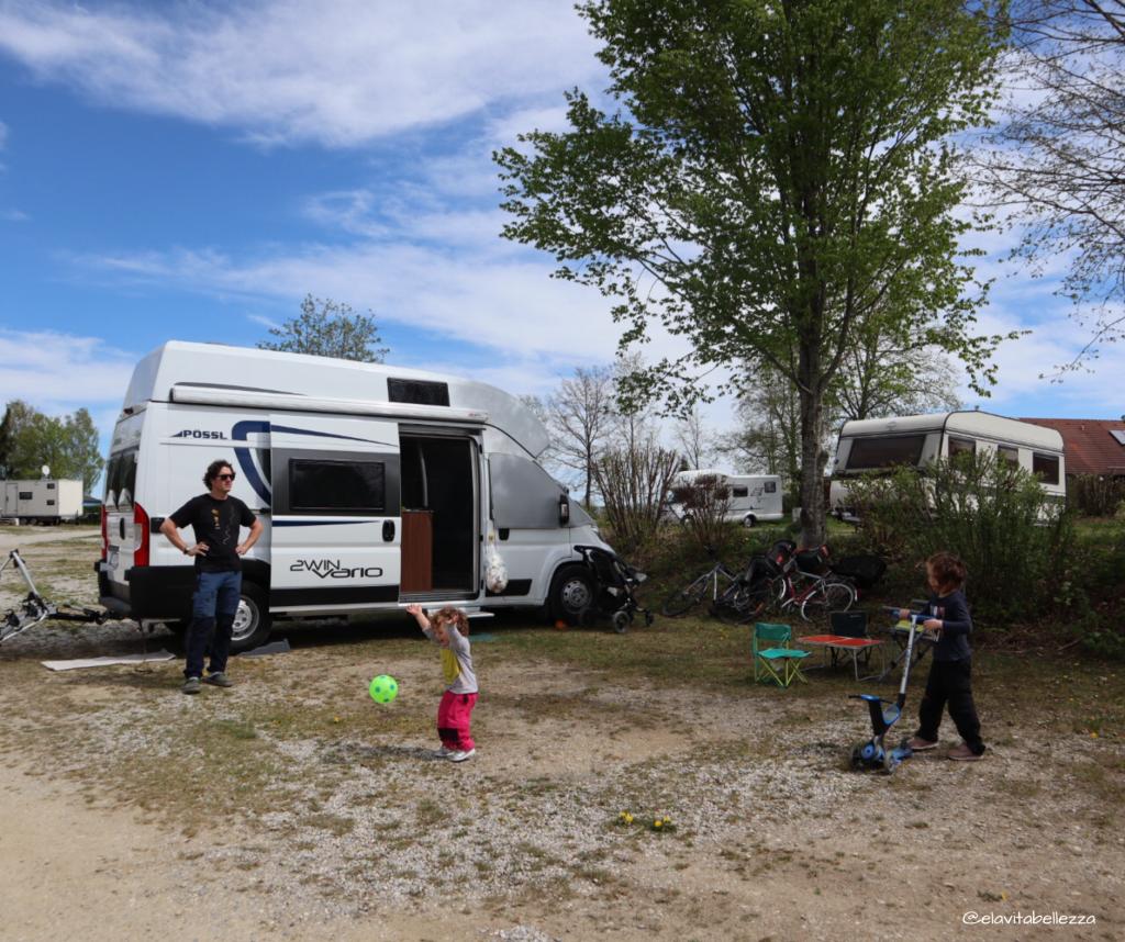 In campeggio a Landsberg a pochi passi dal parco