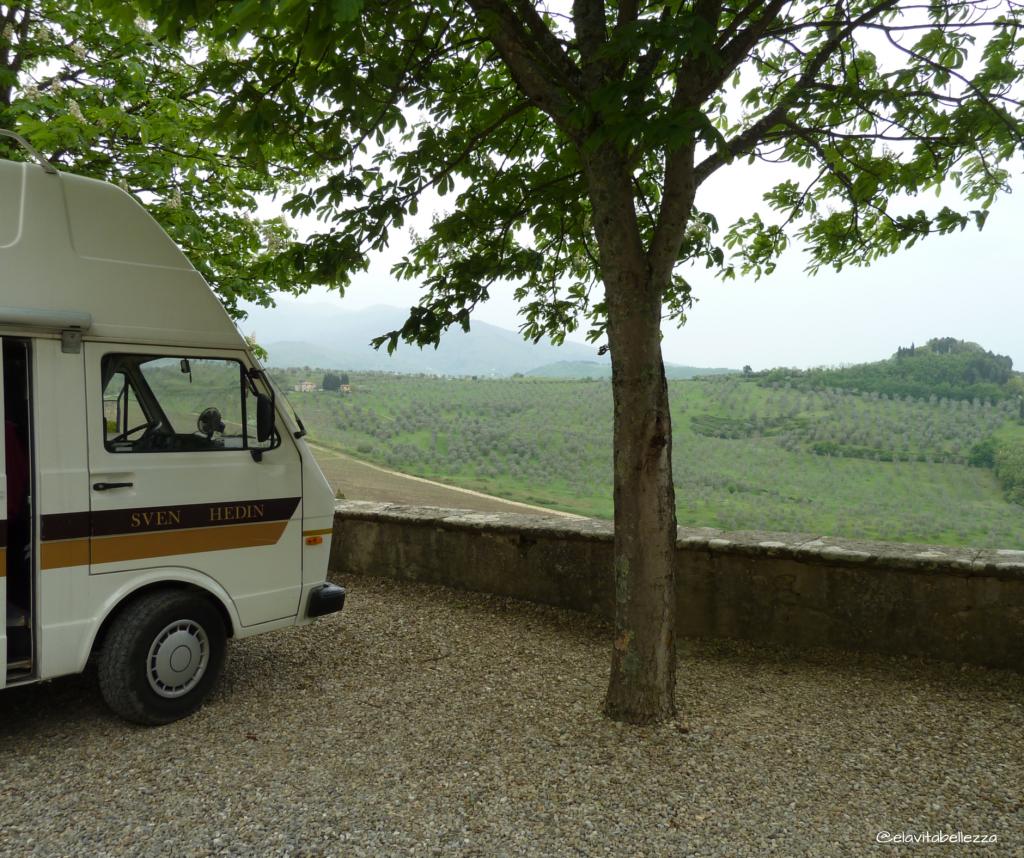 Vacanza in camper: Sven sulle colline toscane