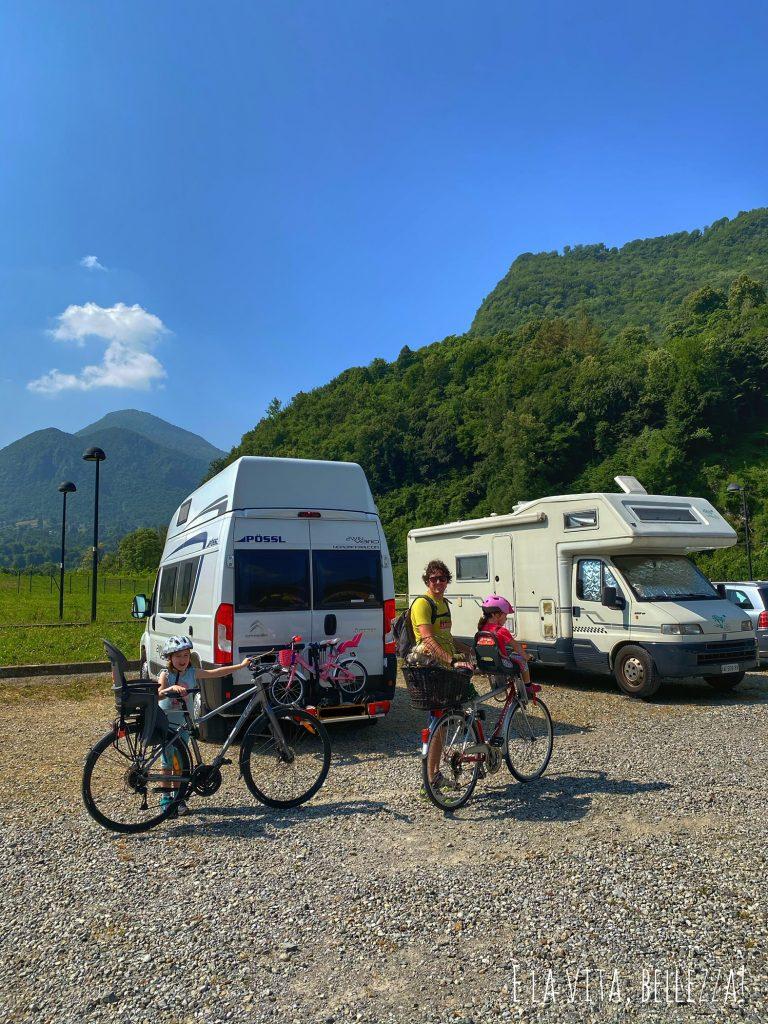 Parcheggio a Barzio, Valsassina