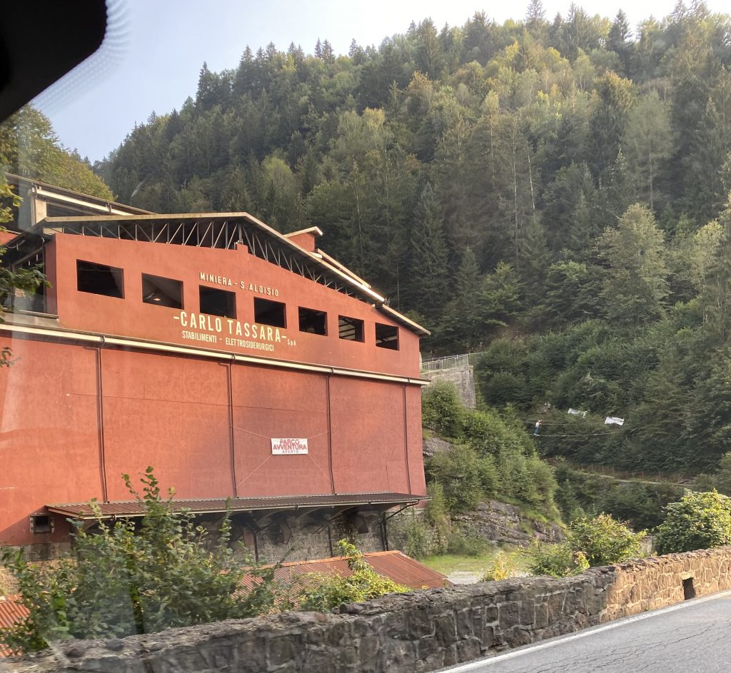 La miniera parco avventura S. Aloisio a Collio di cui è frazione San Colombano